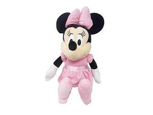 disney baby minnie mouse plush doll pink dress