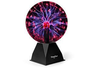 theefun true 8 inch magic plasma ball , touch & sound sensitive plasma lamp light, nebula sphere globe novelty toy for decorati