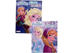 frozen elsa and anna jumbo coloring and activity book - character patterned tool for brain stimulation 80-page creativity-focus