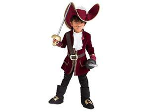 disney captain hook costume for kids - peter pan size 7/8 red