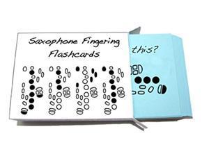 saxophone fingering flashcard set