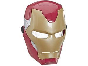 avengers e6502 marvel iron man flip fx mask with flip-activated light effects for costume & role-play dress up