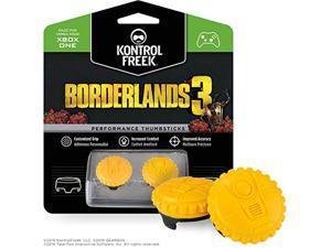 kontrolfreek borderlands 3 claptrap performance thumbsticks for xbox one   2 mid-rise convex thumbsticks   yellow