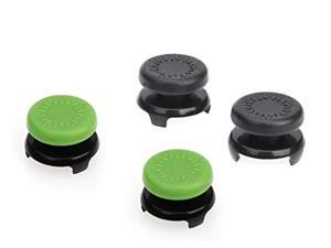basics xbox one controller thumb grips - pack of 4, black and green