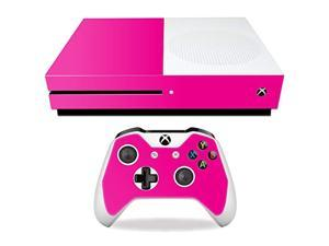 mightyskins skin compatible with microsoft xbox one s - solid hot pink | protective, durable, and unique vinyl decal wrap cover