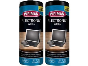 weiman electronic wipes - non toxic safely clean your laptop, computer, tv, phone, and tablet screens - all electronic equipmen