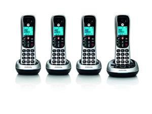 motorola cd4014 digital cordless phone with answering machine with 4 handsets