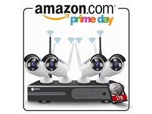anni 4ch 1080p hd cctv wireless security system with 1tb hard drive, wifi nvr kit and (4) 2.0mp megapixel wireless indoor outdo