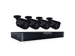 night owl wm-841-2mp 8 channel hd video security dvr with 1 tb hdd and 4x 1080p hd wired bullet cameras