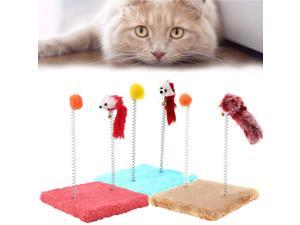 New Cat Toy Funny Cat Tree Jumping Platform with Spring Durable and Comfortable Mouse Ball Toy