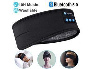Sleep Headphones Bluetooth Sleeping Headphones Headband, Thin Soft Elastic Comfortable, Wireless Music Headband Headphones Eye Mask for Side Sleeper Travel Running Yoga Sports, Gifts for Men Women