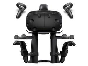 Delamu VR Stand Compatible with Oculus Quest/Rift S/HTC Vive, VR Headset Stand, VR Headset and Controllers Holder