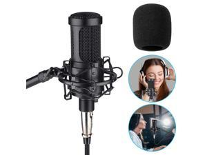 Aokeo AK-60 Professional Condenser Microphone, Music Studio MIC Podcast Recording Microphone Kit with Stand Shock Mount for PC Laptop Computer Broadcasting YouTube Vlogging Skype Chatting Gaming