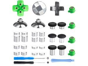 Magnetic Metal Mod Buttons for PS4 Controller, Z&Hveez Magnetic Thumbsticks & Adjustable D-Pads & ABXY Button Replacement Parts for PS4 Slim / PS4 Pro/Playstation 4 Controllers