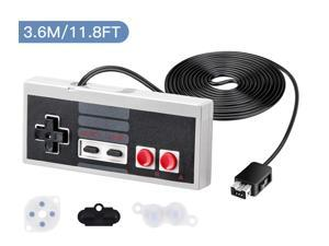 NES Classic Edition Mini Controller with 11.8FT Cable for Nintendo Classic Mini Original Game System Wired