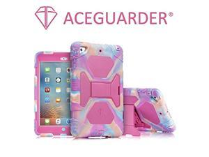 iPad Mini Case,Full Body Protective Premium Soft Silicone Cover with Screen Protector & Adjustable