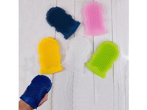 1Pcs Soft Silicone Massage Scrub Gloves For Peeling Body Bath Brush Exfoliating Gloves for the Bath Body Brush