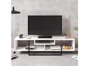 Decorotika Asal 59'' Wide TV Stand and Media Console for TVs up to 68'' with Open Shelves