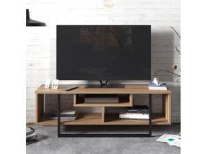 Decorotika Asal 47'' Wide TV Stand and Media Console for TVs up to 55'' with Open Shelves