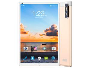 """#Free 128GB Memory Card#Smart Tab S16 FHD Plus (16nd Gen) with Alexa Built-in MTK 1.3 GHz 2 GB Memory 32 GB HD 4x 8.0"""" 1280 x 800 Tablet PC Android 10.0 (Pie) Platinum Gold"""