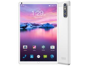 """#Free 128GB Memory Card#Smart Tab S16 FHD Plus (16nd Gen) with Alexa Built-in MTK 1.3 GHz 2 GB Memory 32 GB HD 4x 8.0"""" 1280 x 800 Tablet PC Android 10.0 (Pie) Platinum White"""