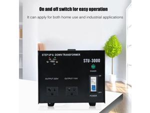 New 3000W Step Up/Down Electrical Power Voltage Converter Transformer With USB ST-3000 Neutral Tension Transformer US Plug
