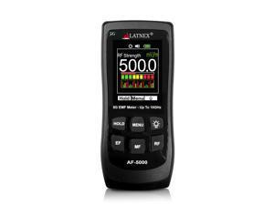 LATNEX AF-5000: Multi-Field 5G Radiation EMF Meter RF Detector Reader Measures High Frequency up to 10GHz