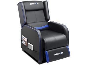 BOSSIN Gaming Recliner Chair Single Recliner Sofa PU Leather Recliner Seating Sofa Ergonomic Lounge Recliner Chair Home Movie Theater Seating Sofa for Living Room
