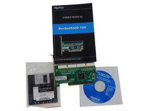 HighPoint RocketRaid 100 2CH IDE PCI Adapter RR100 with Driver and Manual