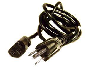 HP 10A 125V 18AWG 6ft Black Power Cord 453070800150R E301567-D / 8AWGX3C Cable