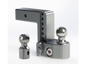 """Weigh Safe WS6-2.5 Adjustable 6"""" Drop Hitch Ball Mount w/Tongue Weight Scale"""