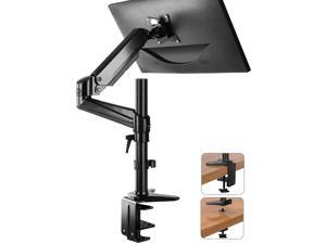 HUANUO Monitor Mount Stand - Single Arm Gas Spring Monitor Desk Mount Height Adjustable VESA Bracket for 17 to 32 Inch Computer Screen - Holds up to 17.6lbs