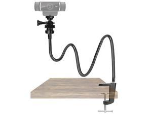 25 Inch Webcam Stand with Flexible Gooseneck Webcam Mount Stand, Enhanced Desk Jaw Clamp for Logitech Webcam C920,C922,C922x,C930,C615,C925e,Brio 4K by STORAGEGEAR