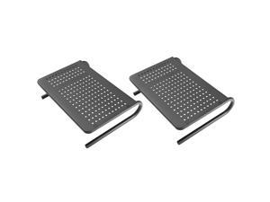 Monitor Stand Riser with Vented Metal for Computer, Laptop, Desk, Printer with 14.5 Platform 4 inch Height (Black, 2 Pack)