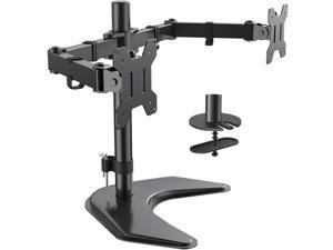 HUANUO Dual Monitor Stand - Adjustable Premium Monitor Desk Mount with Swivel & Tilt and 2 Adjustable Arms, Each Arm Holds 22lbs, for 13-27 Inch LCD Screens, Grommet Hold Mounting
