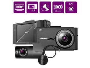 THINKWARE X700 Dual Dash Cam Front and Rear Camera for Cars, 1080P FHD, Dashboard Camera Recorder with G-Sensor, Car Camera w/Sony Sensor, GPS, Night Vision, 32GB, Optional Parking Mode