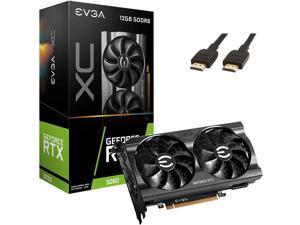 EVGA NVIDIA GeForce RTX 3060 XC 12GB DDDR6 Video Card 12G-P5-3657-KR + HDMI - NEW