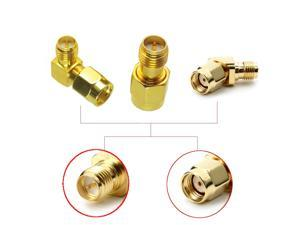 3 PCS Whole Set RP-SMA Male to RP-SMA Female Antenna Connector Adapter Straight Right Angle 45/90/135 Degree ALL in One Combo DIY Accessories For 1.2Ghz 2.4Ghz 5.8Ghz RC Racing Drone FPV System