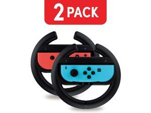 Nintendo Switch Steering Wheel Controller (2 Pack) Racing Games Accessories Joy Con Controller Grip for Mario Kart, Black