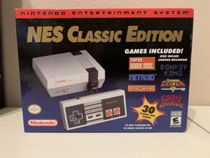 Nintendo Classic Edition NES Mini Game Console with 30 Nintendo Video Games(In Hand)