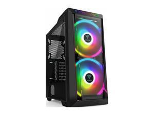 Gamdias APOLLO M2 Gaming PC case 200mm ARGB fans, high airflow, tempered glass panels, ATX