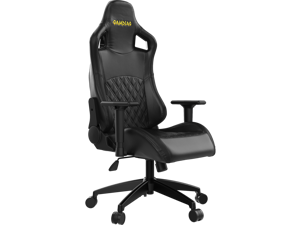 Gamdias APHRODITE EF1 Gaming Chair, PC Computer Racing Seat, High-Back, Height Adjustable, and Adjustable Arm Rest (BLACK)