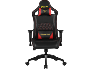 Gamdias APHRODITE EF1 Gaming Chair, PC Computer Racing Seat, High-Back, Height Adjustable, and Adjustable Arm Rest (RED STITCHING)