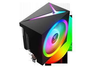 Gamdias BOREAS M1 CPU air cooler 120mm fan, 5V 3-pin RGB sync, PWM, Thick Aluminum Base Plate, 6 Copper Heat-Pipes. Focused air-flow.