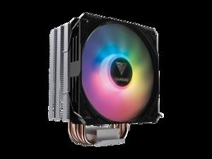 Gamdias BOREAS E1 CPU air cooler 120mm fan, 5V 3-pin RGB sync, PWM, Thick Aluminum Base Plate, 4 Copper Heat-Pipes.