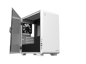 Gamdias MARS E2, micro ATX pc case (WHITE), USB 3.0, rear 120mm black fan, tempered glass side panel