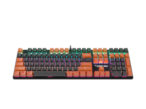 Gamdias Hermes M5A Mechanical Keyboard Passionate' Orange & 'Timeless' Grey keycaps with Blue Switches