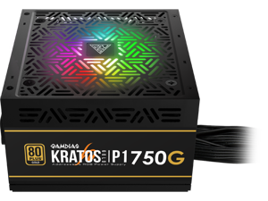 Gamdias KRATOS P1-750G 750W 80 PLUS GOLD Standard Certified, Semi-modular, RGB Motherboard sync & 30 Lighting Effects