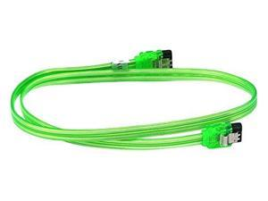 C/&E 2 Pack 24 inch SATA 6Gbps Cable w//Locking Latch 90 Degree to 180 Degree  Black CNE547008