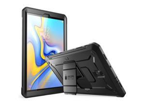 Galaxy Tab A 10.5 Case, SUPCASE Full-Body Rugged with Built-in Screen Protector Kickstand Hybrid Case for Samsung Galaxy Tab A 10.5 (SM-T590/T595/T597) 2018 Release- Unicorn Beetle Pro Series (Black)